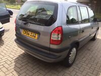 Vauxhall Zafira 1.6 life 54 reg long mot fsh 7 seater mpv drives excellent