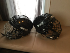 Casques pour hockey ou ballon balai ou autre sport de glace