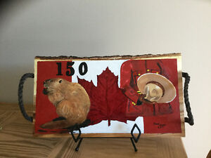 Canada 150 in oil on wood