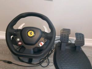 Xbox 360 steering wheel.