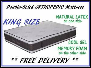 DELIVERED FREE New KING Size Double-Sided Orthopedic Mattress New Farm Brisbane North East Preview