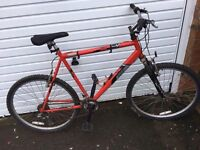 RED MENS RALEIGH BIKE FLAT TYRES ** FREE DELIVERY AVAILABLE TONIGHT **