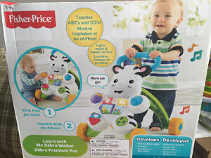 New! Fisher price learn with me zebra Walker