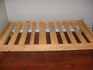 Solid pine single frame and mattress