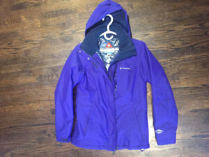 Columbia omniheat insulated winter purple hooded winter jacket S