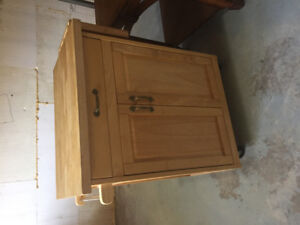 China cabinet and matching cutting chest