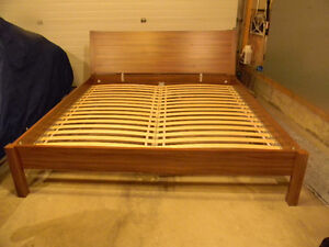 King size Ikea bed frame with slats