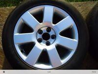 "Audi TT 16"" Mk 1 Ronal Alloy Wheels with centre caps (x4)"