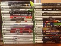 Xbox 360, kinect, 35 games 500 gb, wireless controllers