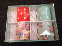 CATH KIDSTON STYLE SET OF FOUR MUGS IN GIFT BOX