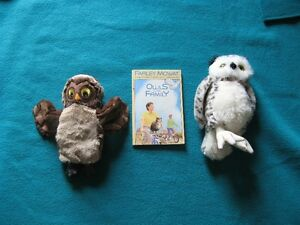 Owls in the Family and 1 Owl puppet and 1 Owl stuffie