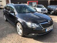 SKODA SUPERB 2.0TDI (2014 14 REG) + ELEGANCE + ESTATE + DIESEL + BEIGE LEATHER