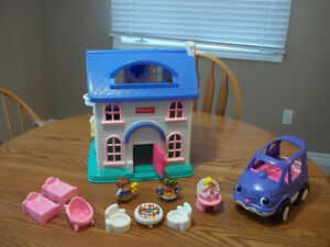 Fisher-Price Little People House.  Includes all the accessories
