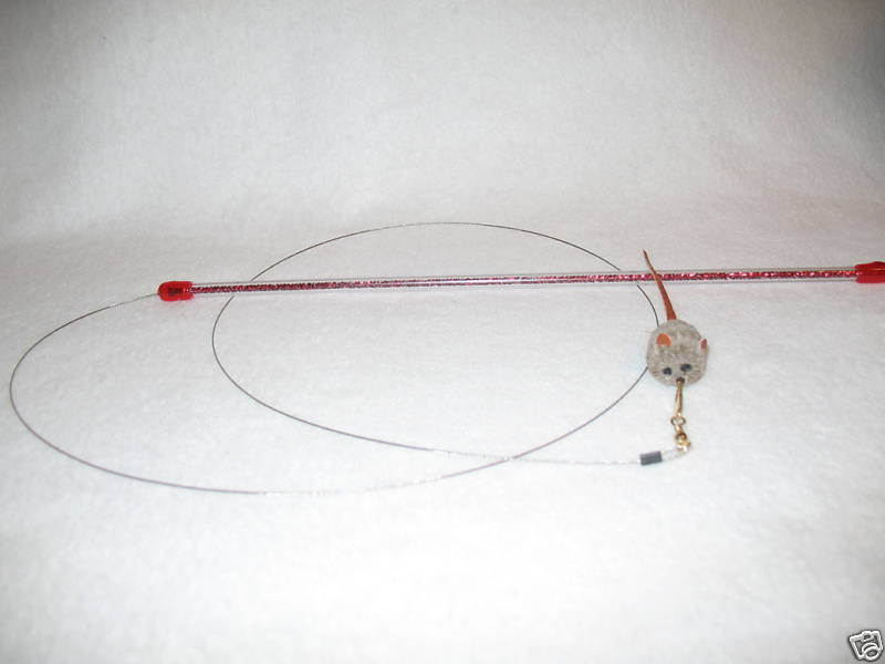 CAT CATCHER mouse wand cat toy pole toys kitten ferret go cat Free shipping