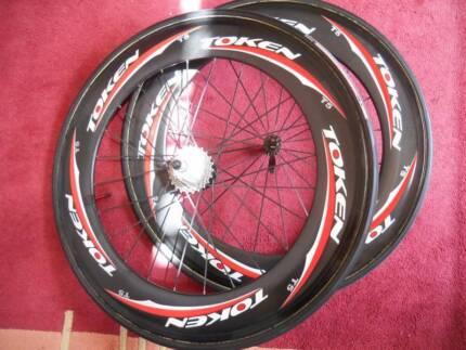 Token T5 Tubular 80 cm Flat Spokes Carbon Road Bike Wheels