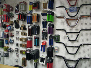 BMX stocking stuffers @ Bicycle World. Grips, pedals, sprockets.