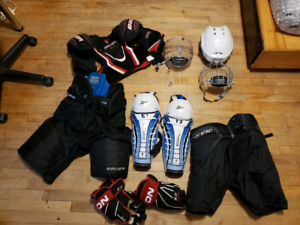 Hockey equipment lightly used as a whole ($250) or individually