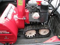 wanted snowblower honda  / track type only wanted running or not