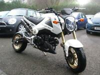 15/15 HONDA MSX 125 IN PEARL WHITE WITH ONLY 240 MILES AND LOADS OF UPGRADES