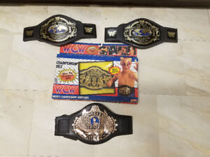 Vintage WWF (WWE) and WCW Wresting Championship Belts!