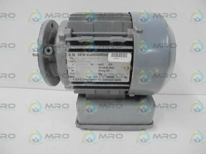 SEW-EURODRIVE S37DT7104 ELECTRIC GEAR MOTOR  * USED * MOTOR ONLY