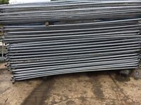 🔨🌟Brand New Round Top Metal Heras Style Fence Panels