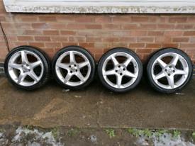 17 Inch 4x100 Vauxhall Corsa Alloy wheels