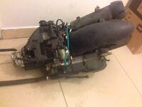 125cc 4 stroke engine with wheel, exuast