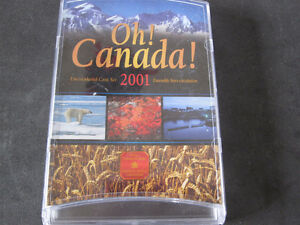 2001 Oh! Canada Uncirculated Coin Set-Royal Canadian Mint