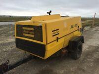 Atlas Copco Diesel Screw Air Compressor - 267 CFM