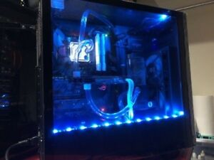 GAMING PC Core i7-8700k Full EKWB Custom liquid loop new