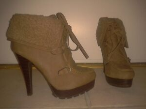 Brown Suede Booties for Sale! London Ontario image 1