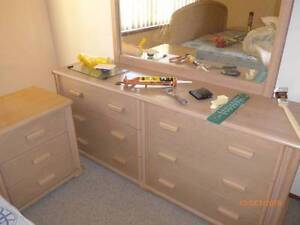 bedroom suit - dresser -2 bedside cabinets bed only $150 Charlestown Lake Macquarie Area Preview