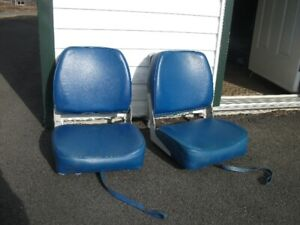 Two Cushioned Boat Seats For Sale