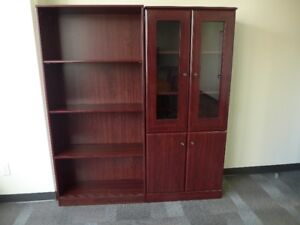 Cherry Wood Book Shelf and Cabinet