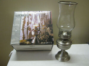 Pewter Oil Lamp - NEW - REDUCED!