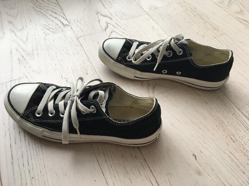 Women's    Black Converse Shoes b6690b
