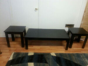 Three Piece Coffee Table With Two End Tables.