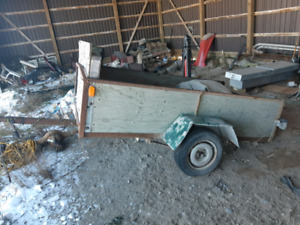 Trailer for sale good tires and bearing $ 500.00