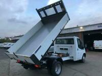 FORD TRANSIT S/CAB LWB TIPPER 125 T350 RWD 2.2-1 YR MOT - 63-REG M: 07435 589353