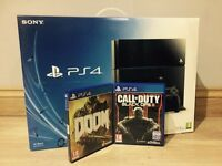 PlayStation 4 500gb with 2 games