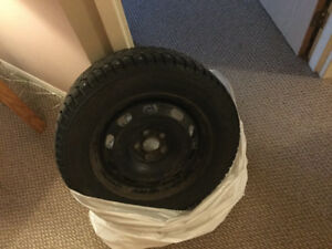 Nokian Nordman 5. Studded Winter Tires and rims. P195 65R15