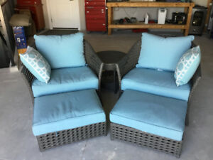 2 Beautiful near new Lawn Chairs & Footrests