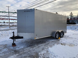 2018 Stealth Mustang 16ft V Nose Duel Axle 3500lb Cargo Trailer