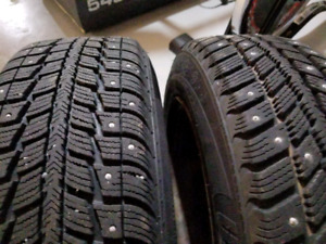 4x100 studded winter tires on rims 175 65 R14