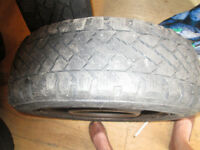 Winter tires on rims for Toyota Matrix