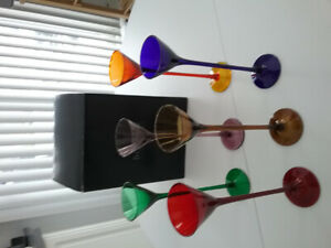 NEW SET OF 6 LIQUEUR LONG STEM GLASSES