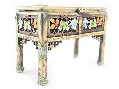 (Gold Vintage Table Jewelry Trinket Box Decoration Collection Cute Gift 02091A)
