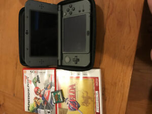 3DS XL with 3 games.