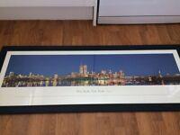 Framed New York print